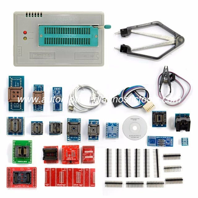 Newest V6.5 Mini Pro TL866II PLUS Full Set Auto ECU Programmer With 21pcs Socket Adapters