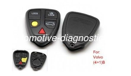 4+1 Button Volvo Remote Key Shell, Auto Remote Key Case / Blanks For Volvo