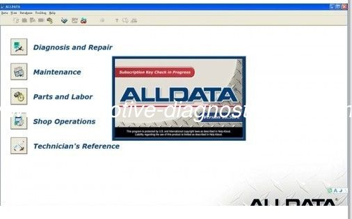 Alldata V10.52 Automotive Diagnostic Software