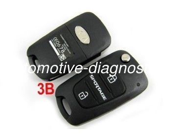 Kia Sportage Modified Flip Remote Key Shell, Professional 3 Button Kia Key Case